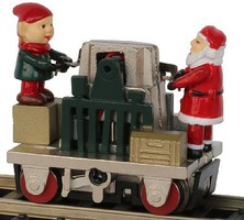 Bachmann HO Operating Gandy Dancer, Christmas