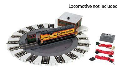 Bachmann Motorized Turntable w/Direction Control -- HO Scale Model Railroad Operating Accessory -- #46299