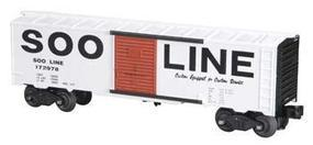 Bachmann 40 Steel Boxcar - 3-Rail Soo Line #172978 O Scale Model Train Freight Car #47025