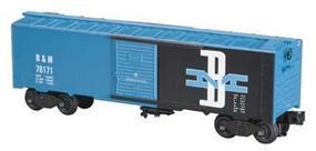 Bachmann 40 Steel Boxcar - 3-Rail Boston & Maine #76171 O Scale Model Train Freight Car #47051