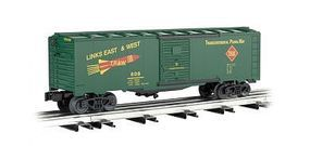 Bachmann 40 Steel Boxcar - 3-Rail Toledo, Peoria & Western O Scale Model Train Freight Car #47073