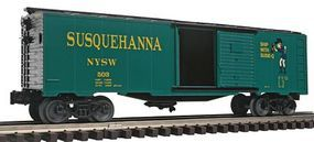 Bachmann 40 Boxcar New York/Susquehanna/Western Suzy Q O Scale Model Train Freight Car #47079