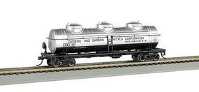 Bachmann 3-Dome Tank Car - 3-Rail Carbide & Carbon Chemicals Co O Scale Model Train Freight Car #47114