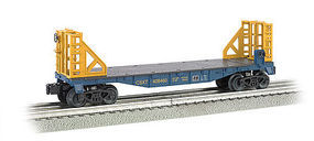 Bachmann WM 40 Flat w/Bulkhead CSX O Scale Model Train Freight Car #47509