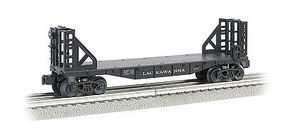 Bachmann WM 40 Flat w/Bulkhead Lackawanna O Scale Model Train Freight Car #47511