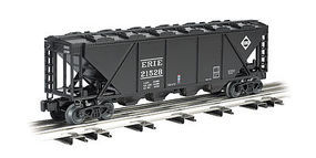 Bachmann 4-Bay Covered Hopper - 3-Rail Erie #21528 (black) O Scale Model Train Freight Car #47622
