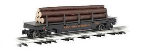 Bachmann Operating Log Dump Car West Side Lumber Co O Scale Model Train Freight Car #47927