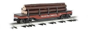 Bachmann Operating Log Dump Car Yellow Pine Lumber Co O Scale Model Train Freight Car #47928