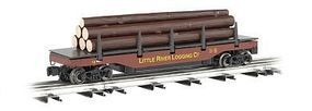 Bachmann Operating Log Dump Car Little River Logging Co O Scale Model Train Freight Car #47929