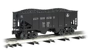 Bachmann 55-Ton 2-Bay Hopper w/Coal Load B&O O Scale Model Train Freight Car #48201