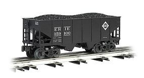 Bachmann USRA 55-Ton 2-Bay Hopper w/Load - 3-Rail Erie #15900 O Scale Model Train Freight Car #48204