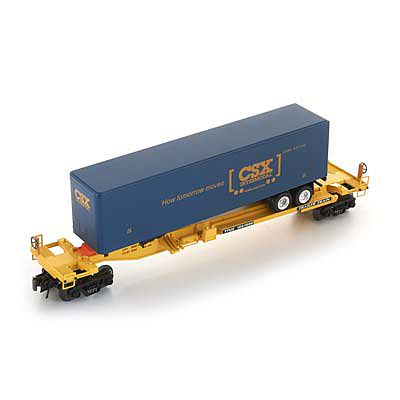 Bachmann Front Runner with CSX Trailer -- O Scale Model Train Freight Car -- #48403