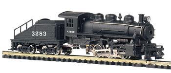 Bachmann N USRA 0-6-0 Switcher Steam Locomotive & Tender Santa Fe (D)