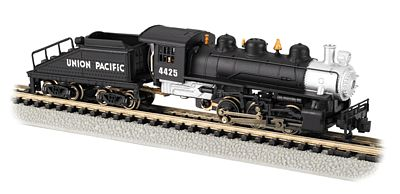 Bachmann 0-6-0 Switcher Steam Locomotive & Tender UP #4425 -- N Scale Model Train Steam Locomotive -- #50561
