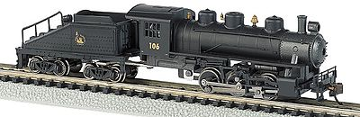 Bachmann 0-6-0 Switcher w/Tender Central of New Jersey #106 N Scale Model Train Steam Locomotive #50565