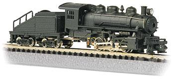 Bachmann USRA 0-6-0 Switcher & Slope Tender Undecorated -- N Scale Model Train Steam Locomotive -- #50598