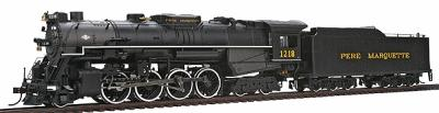 Bachmann 2-8-4 Berkshire w/Tender Pere Marquette 1218 HO Scale Model Train Steam Locomotive #50902