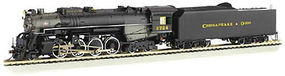 Bachmann Berkshire DCC C&O Kanawha #2724 N Scale Model Train Steam Locomotive #50953