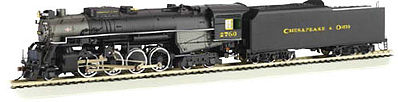 Bachmann Berkshire DCC C&O Kanawha #2760 N Scale Model Train Steam Locomotive #50954