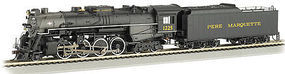 Bachmann Berkshire Pere Marquette #1225 N Scale Model Train Steam Locomotive #50955