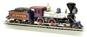Bachmann 4-4-0 American w/o DCC CP Jupiter w/Wood Load HO Scale Model Train Steam Locomotive #51003