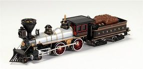 Bachmann American 4-4-0/Tender Santa Fe #91 HO Scale Model Train Steam Locomotive #51102