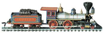 Bachmann Amer 4-4-0 w/Tend Jupiter CP #60 -- HO Scale Model Train Steam Locomotive -- #51124