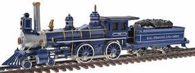 Bachmann American 4-4-0 with Tender B&O 1890s Royal Blue HO Scale Model Train Steam Locomotive #51144