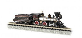 Bachmann 4-4-0 American Santa Fe #91 N Scale Model Train Steam Locomotive #51152