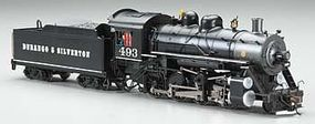 Bachmann 2-8-0 Consolidation Durango/Silverton #493 HO Scale Model Train Steam Locomotive #51313