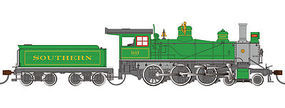 Bachmann 4-6-0 DCC with sound Southern #1087 HO Scale Model Train Steam Locomotive #51403