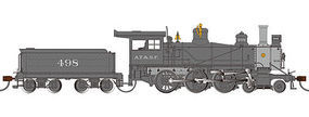 Bachmann Baldwin 52 Driver 4-6-0 DCC Sound Santa Fe 498 HO Scale Model Train Steam Locomotive #51405