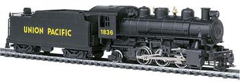 Bachmann Prairie 2-6-2 w/Tend Union Pacific #1836 -- HO Scale Model Train Steam Locomotive -- #51501