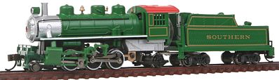 Bachmann Prairie 2-6-2 with Tender Southern Green -- N Scale Model Train Steam Locomotive -- #51572