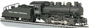 Bachmann USRA 0-6-0 Slope Tender New York Central #232 -- HO Scale Model Train Steam Locomotive -- #51605