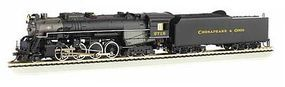 Bachmann Berkshire Chesapeake & Ohio 2718 with Sound HO Scale Model Train Steam Locomotive #52402