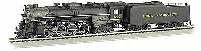 Bachmann Berkshire Pere Marquette 1225 with Sound -- HO Scale Model Train Steam Locomotive -- #52403