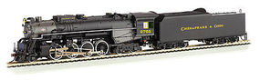 Bachmann 2-8-4 Berkshire Chesapeake & Ohio #2705 HO Scale Model Train Steam Locomotive #52405