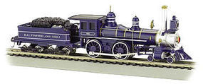 Bachmann 4-4-0 w/Coal Tender Load Baltimore & Ohio HO Scale Model Train Steam Locomotive #52703