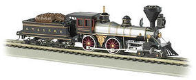 Bachmann 4-4-0 w/Wood Tender Load Santa Fe #91 HO Scale Model Train Steam Locomotive #52704