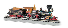 Bachmann 4-4-0 AM DCC NCRR with Load HO Scale Model Train Steam Locomotive #52706