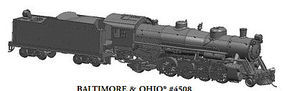 Bachmann USRA Light 2-8-2 DCC B&O #4508 w/Med Tender HO Scale Model Train Steam Locomotive #54302