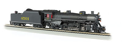 Bachmann USRA Light 2-8-2 Southern #4501 w/Long Tender -- HO Scale Model Train Steam Locomotive -- #54403