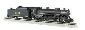 Bachmann USRA Light 2-8-2 Southern #4501 w/Long Tender HO Scale Model Train Steam Locomotive #54403