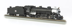 Bachmann USRA Light 2-8-2 Western Pacific #302 Med Tender HO Scale Model Train Steam Locomotive #54404