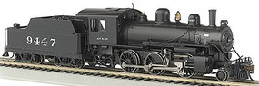 Bachmann 2-6-0 Loco Bluetooth E-Z App ATSF #9447 HO Scale Model Train Steam Locomotive #57803