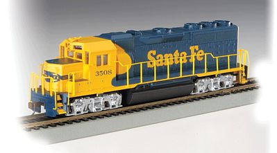 Bachmann Gp40 Santa Fe 3508 Ho Scale Model Train Diesel Locomotive 60304