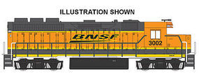 Bachmann GP40 DCC Equipped BNSF #3002 HO Scale Model Train Diesel Locomotive #60305