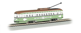 Bachmann PCC Streetcar w/DCC, Sound & Sparking Trolley Pole San Diego (light green, white)