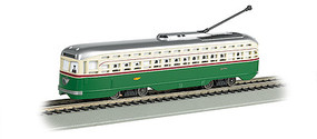 Bachmann PCC Streetcar w/DCC, Sound & Sparking Trolley Pole Philadelphia Transit Co. (green, cream)